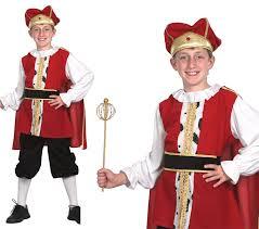 childrens kids medieval king fancy dress costume henry viii tudor