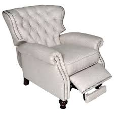 cambridge reclining chair tufted brussels linen fabric dcg stores