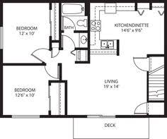 Simple Garage Apartment Plans Tiny House Single Floor Plans 2 Bedrooms Apartment Floor Plans