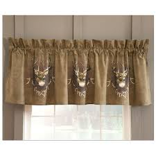 Whitetail Deer Shower Curtain Delectably Yours Com Pair Of Whitetail Ridge Deer Curtains Rod