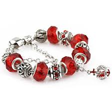 bracelet color crystal images Hot sale crystal pandora bead charm diy jewelery gift bracelet jpg
