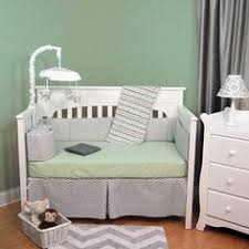 Zig Zag Crib Bedding Set Chevron Zig Zag Blue And Gray With Dots Baby Crib Bedding Sets Are