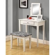 Vanity And Stool Set Monarch Specialties Inc Vanity Set With Mirror U0026 Zebra Print
