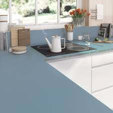 plan de travail cuisine verre plan de travail sur mesure verre laqué bleu baltique ep 15 mm