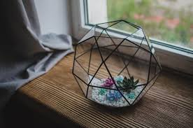 large terrarium icosidodecahedron stained glass terrarium glass