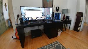 Gaming Desks by Spring Cleaning 2017 Gaming Setup Pinterest Gaming Desk And
