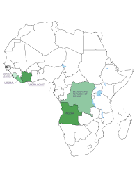 Angola Africa Map by Conflict Free Diamonds The Truth About Diamonds