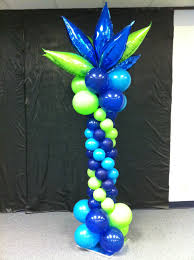 balloon delivery houston blue and lime green balloon columns columns column balloon decor