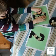 kindergarten worksheets gold coin number mats