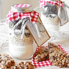 diy jarred gift chocolate cherry oat scones simple seasonal