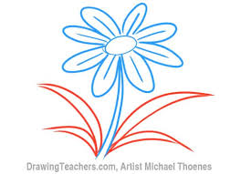 Vase Of Flowers Drawing Cartoon Flower How To Draw A Flower Step By Step