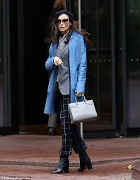 The Movie Blind Demi Moore Cuts A Beautiful Figure In Vivid Coat Her New Movie