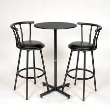 bar stool table set of 2 amazon com roundhill furniture nor hill 3 piece black metal height