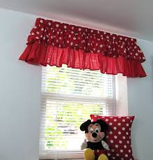 Girls Bedroom Valances Polka Dot Two Tiered Ruffled Valance Nursery Kids Red Pink