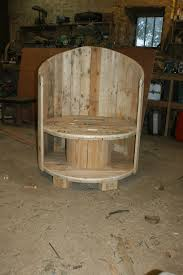 reclaimed cable drum u0026 pallet wood into chair u2022 1001 pallets
