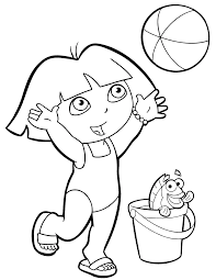 free coloring pages dora sheets for kids get free coloring pages