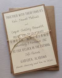 simple wedding invitations simple rustic wedding invitations iidaemilia