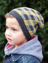 patons plaid slouchy beanie crochet pattern yarnspirations