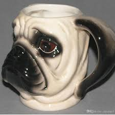 animal head ceramic dog shaped mug 3d pug head coffee cup cute