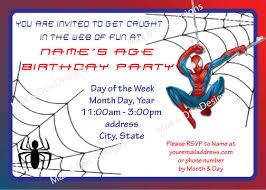 spiderman printable birthday invitation custom design awesome
