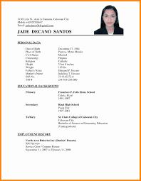 exle of resume for applying format of resume for applying krida info
