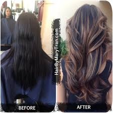 light brown hair with caramel highlights on african americans mary tran santa monica ca united states color correction