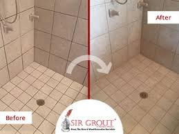 Bathroom Grout Cleaner The Appearance Of This Shower In Willard Mo Completely Changed