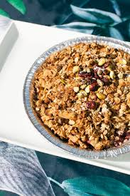 breakfast thanksgiving thanksgiving recipe apple and stone fruit crumble with pistachio oat