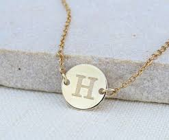 gold engraved necklace best 25 gold disc necklace ideas on disc necklace