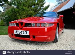 classic alfa romeo sedan alfa romeo zagato sz classic italian sports car stock photo