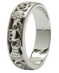 Claddagh Wedding Ring by Matching Irish Claddagh Wedding Bands