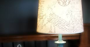 Diy Lamp Shade The Concrete Cottage Diy French Script Lamp Shade