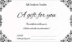 gift certificates present certificate templates birthday gift certificate templates