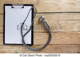 Wooden Desk Background Stock Photography Of Medical Clipboard And Stethoscope On Wooden