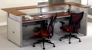 Fancy Reception Desk Cherryman Double Reception Desk 2 Person Reception Desks