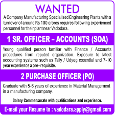 Last Drawn Salary Jobs In Vadodara Vadodara Jobs Jobs In India Timesascent Com