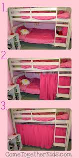 Make Curtains Out Of Sheets Come Together Kids The 5 Minute No Sew Bottom Bunk Fort
