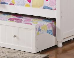 twin daybed w trundle in white by coaster