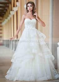 organza wedding dress a line neckline ivory lace organza ruffle wedding dress