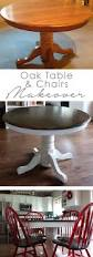 Painted Oak Dining Table And Chairs Best 25 Painted Oak Table Ideas On Pinterest Oak Table And
