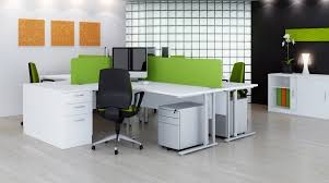 exquisite stylish office furniture feature white lacquered wooden