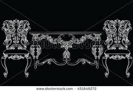vector baroque dressing table mirror frame stock vector 527575282