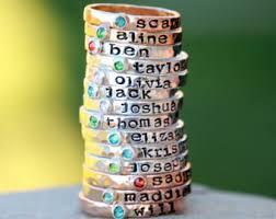 children s birthstone rings for mothers birthstone ring etsy