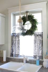bathroom window curtain ideas no sew bench cushions for under 65 simple stylings kitchen