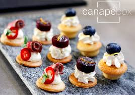 food canapes canapé catering delivery service canapébox