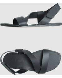 ugg layback sandals sale tomas maier contrast leather and canvas sandals in black for