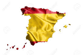 Picture Of Spain Flag Map Of Spain With Spanish Flag On It Isolated On White Background