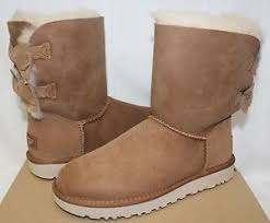 uggs womens boots on ebay ugg s meilani chestnut suede bow boots with box ebay