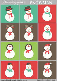 christmas ornament memory game free printable baby