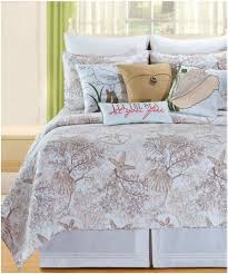 Seashell Queen Comforter Set Beach Cottage Coastal Living Starfish Coral Seashell Cotton Quilt
